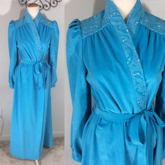 Vintage Other - Vintage Blue Princess Bathrobe